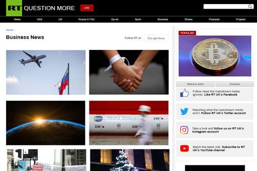 Russia Today Website